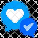 Love Chat Love Check Icon