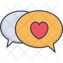Love Chat Love Convesation Love Communication Icon