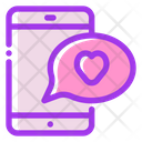 Love Chat Heart Chat Icon
