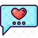 Chat Love And Romance Valentines Day Icon
