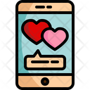 Love Chat Smartphone Chat Box Icon