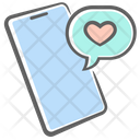 Heart Message Mobile Icon