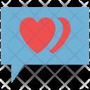 Bubble Chat Romance Icon