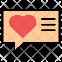 Love Chat Bubble Icon