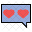 Love Chat Heart Icon