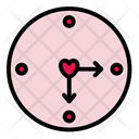 Love Clock Love Heart Icon