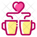 Love Coffee Love Drink Glass Icon