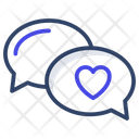 Love Chat Love Communication Romantic Chat Icon