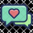 Love Conversation Love Chatting Love Communication Icon