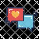 Love Conversation Love Text Love Message Icon