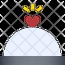 Love Cuisine Heart Cloche Food Cloche Icon