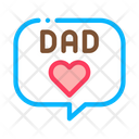 Love Daddy Message Icon
