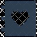 Book Bookmark Love Icon