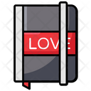 Love Diary Love Book Love Notebook Icon