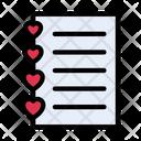 Love List Diary Icon