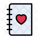 Love Diary Notebook Icon