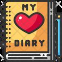 Diary Heart Love Icon