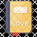 Love Diary Love Book Romantic Novel Icon