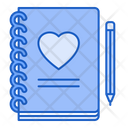 Love Diary Diary Love Icon