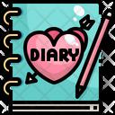 Love Diary Romantic Book Love Book Icon