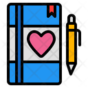 Love Diary Diary Book Icon