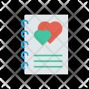 Notepad Romance Heart Icon