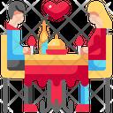 Love Dinner Couple Dinner Icon