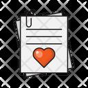 Love Document Clip Icon