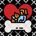 Love Dog Animal Love Pet Icon