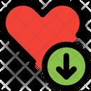 Love Down Down Arrow Heart Icon