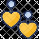 Earrings Heart Jewelry Icon