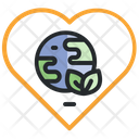 Love Earth Love Ecology Love Planet Icon