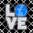 Love Earth Planet Icon