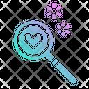 Love Search Romance Icon