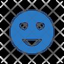 Love Face Smiley Icon