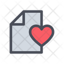 Love File Love Document Love Latter Icon