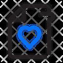 Document Favorite Love Icon