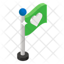 Love Flag Banner Heart Flag Icon