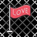 Love Flag Waving Icon
