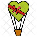 Love Flight Heart Air Balloon Heart Gift Icon