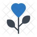 Heart Love Flower Icon