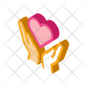 Hands Hold Heart Icon