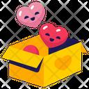 Hearts Love Box Icon