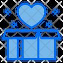 Heart Love Open Box Icon
