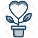 Love Growth Love Plant Heart Flower Icon
