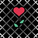 Heart Growth Love Icon