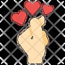 Love Hand Sign Valentine Icon