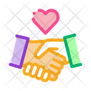 Love Handshake Icon