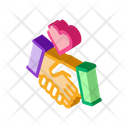 Love Handshake Icon