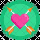 Love Heart Love Arrows Valentine Icon